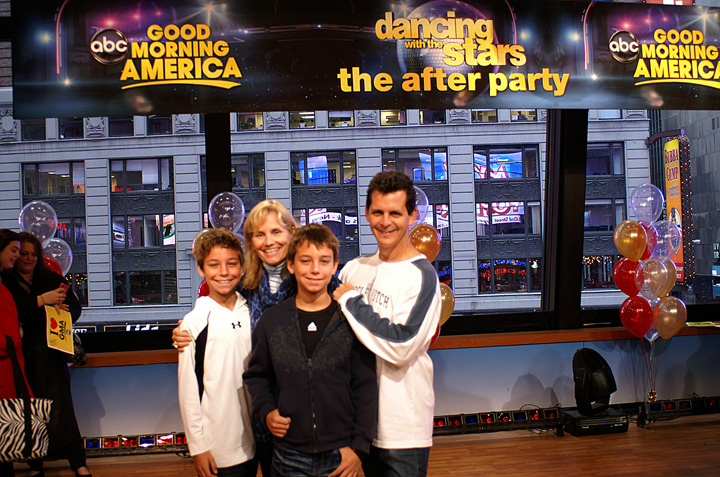 The Simons on the set of ABC's Good Morning America