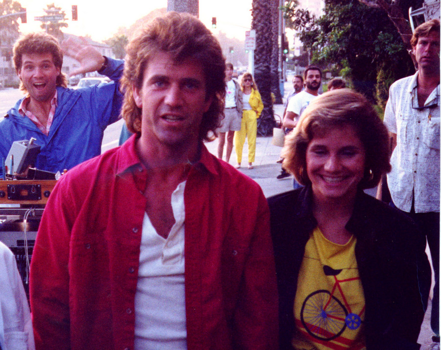 Jeanne Simon and Mel Gibson