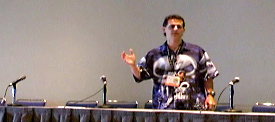 Lecture-Mark Simon speaking at ComicCon