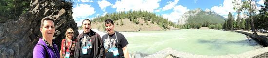 We can't leave Banff without one more shot of some Tour members enjoying the awesome scenery