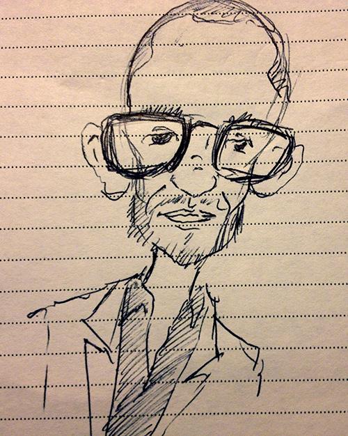 NATPE_2013_Marks_caricature_of_Damon_Lindelof