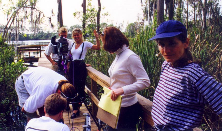 Jeanne Simon directing Rollerjam segments
