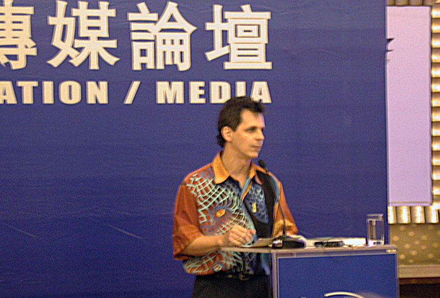 Mark Simon lecturing in China