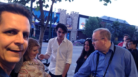 Mark, Jenni Gold, RJ Mitte (Breaking Bad) & Jeff Maynard