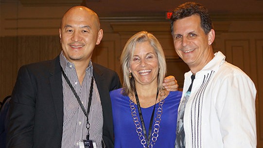 Peter Shaio, CEO Orb Media with Jeanne and Mark