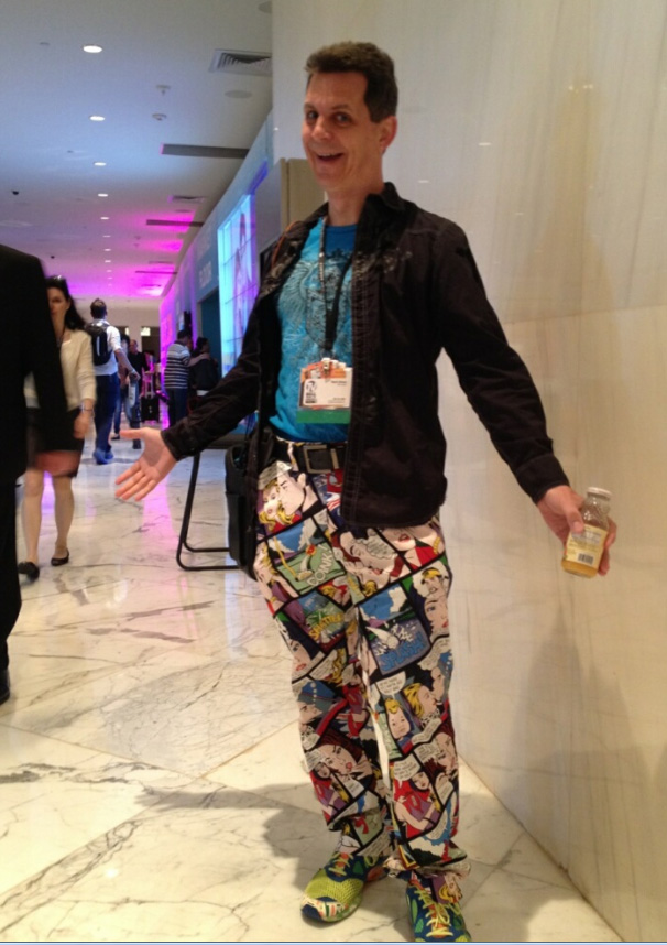 cartoon strip pants.