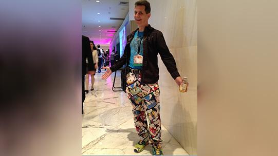 cartoon strip pants.